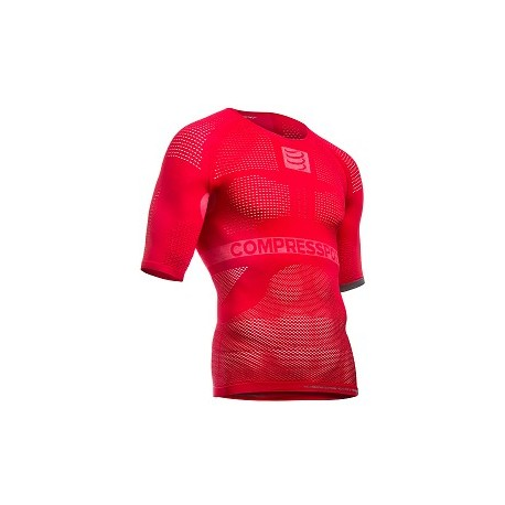 Maillot compression Multisport First ON/OFF Manches courtes - ROUGE