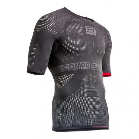Maillot compression Multisport First ON/OFF Manches courtes GRIS. COMPRESSPORT