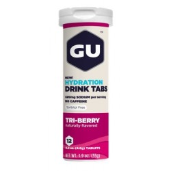 GU Tablettes Hydratation Drink - Trois Fruits Rouges