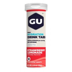 GU Tablettes Hydratation Drink - Fraise limonade