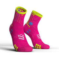 Chaussettes Rose Pro Racing Socks V3.0 - COMPRESSPORT