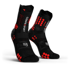 Chaussettes TRAIL Noir/Rouge Pro Racing Socks Trail V3.0 - COMPRESSPORT