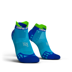 Chaussettes Bleu Pro Racing ultra light run low V3.0 - COMPRESSPORT