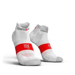 Chaussettes Blanche Pro Racing ultra light run low V3.0 - COMPRESSPORT