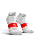 Chaussettes Blanche Pro Racing ultra light run low V3.0 - COMPRESSPORT