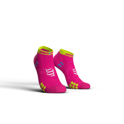 Chaussettes courtes Rose Pro Racing Socks V3.0 low cut - COMPRESSPORT