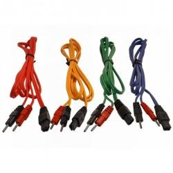 Jeu de 4 cables pour COMPEX SNAP -