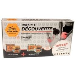 Coffret Découverte BAUME DU TIGRE: 1 baume rouge + 1 baume blanc + 1 echarpe OFFERTE